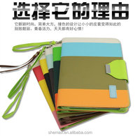 100 PCS, Wallet Leather Case stand with Credit ID Card slot Holder Cover Pouch For Apple ipad mini 2 Tablet