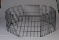 eight panels durable folding metal wire pet playpen pet fence