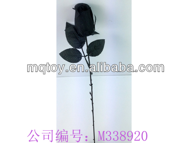 2014 Novetly 41cm single stem artificial black rose man-made flower new product Valentine's Day toy made in china