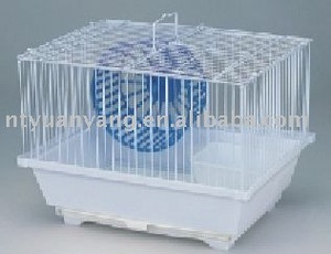 luxury white wire hamster Cage with wheel