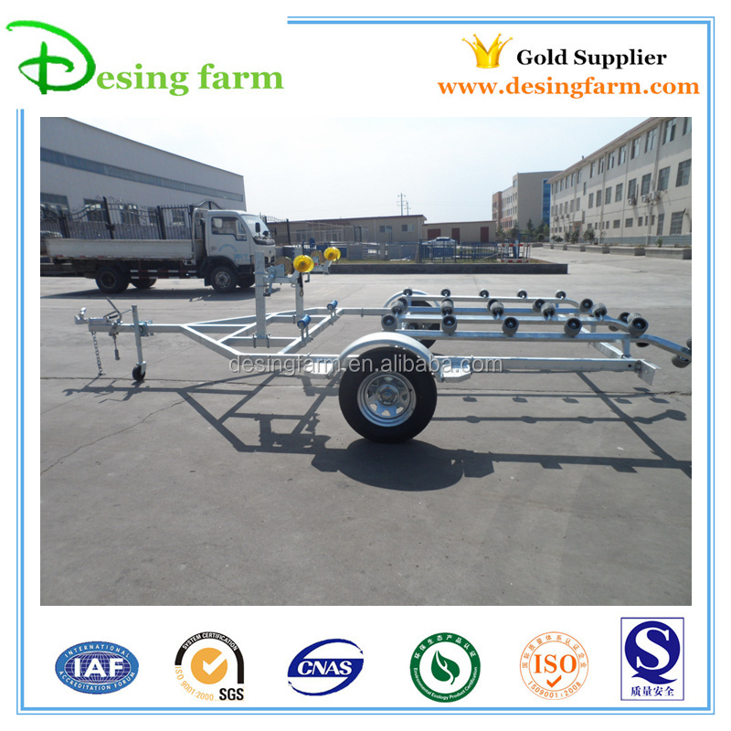 Galvanized heavy duty boat trailer for Australia and New Zealand
