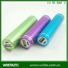 Fashionable gifts wholesale 2600 capacity lipstick power bank