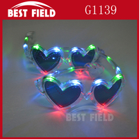 Heart valentine's day flashing sunglasses