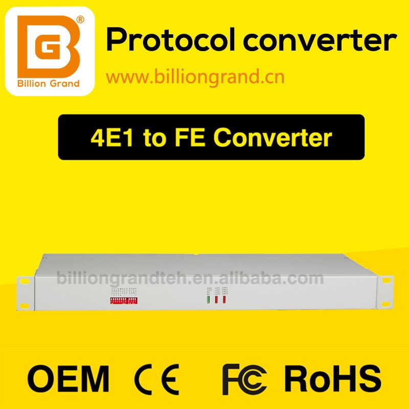 4E1 over Ethernet converter v 35 rj45 analog to digital video converter