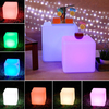 Waterproof LED Cube Seat Lighting, Outdoor Colorful Party LED Cube Chair
