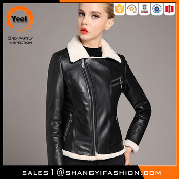 YEEL Senior custom wide lapel raccoon fur collar winter warmth romantic italy leather jacket