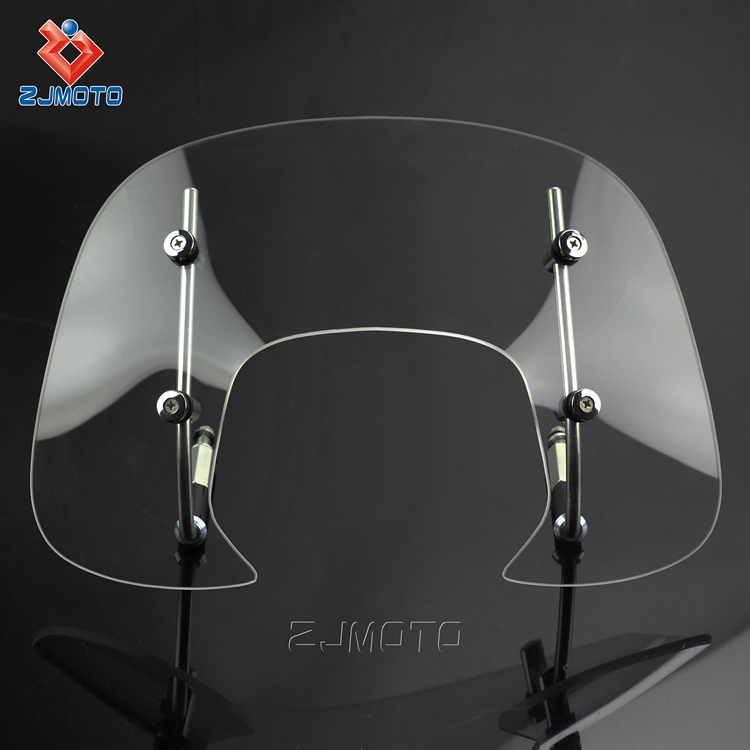 Cheap wholesale unbreakable custom motorcycle front wind shield windscreen for sale