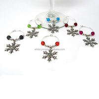 Eco-friendly coloured wine glass plate clips/wine glass charms