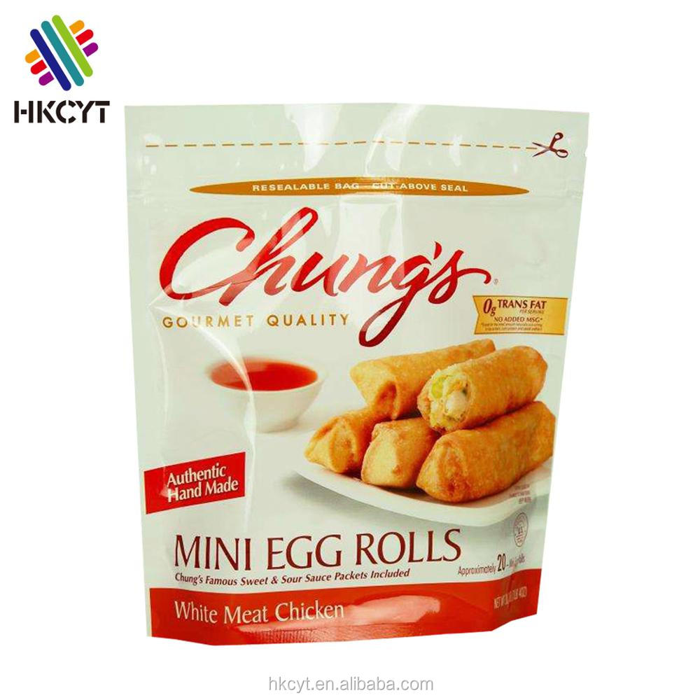 Food packaging stand up bags from China manufactures with zipper for Spring rolls,Nutrition seeds,Millets