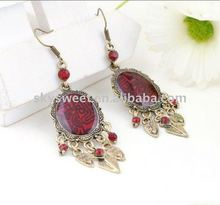 Fashion Cheap Jewelry Red Bead Earrings(SWTER1554B)