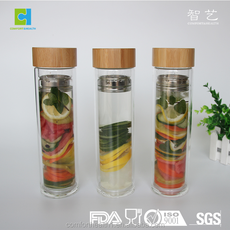 BPA FREE Borosilicate Eco Friendly Water Glass Bottles