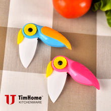 ceramic folding knife parrot pocket knife Christmas gift present