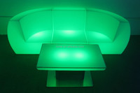 Led Light Illuminated Plastic Sofa