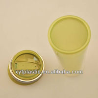 Clear Plastic coffee cups mugs with lid