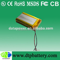 Small rechargeable 12v battery lithium ion polymer battery with 600mah