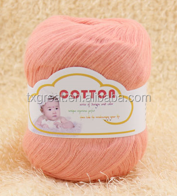 2015 Multicolor very soft baby cotton yarn hand knitting yarn