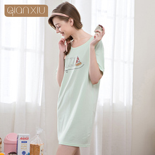 2017 New design Qianxiu freshing indian nighty designs women pijamas sleepwear