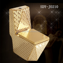 ceramic washdown 250mm SASO golden toilet gold colored toilet bowl
