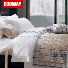 100% Cotton Jacquard Hotel Bedding sets Bed sheet and Duvet cover