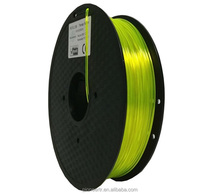 Trans Yelllow 3D Printer Filament PETG 1kg 2.2lb Spool 1.75mm 3D Printing Material