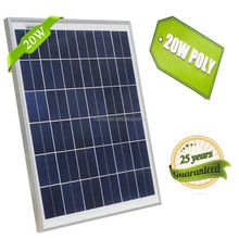20w High Effeciency Poly Silicon Cell Semi Flexible Solar Panel For 12v Battery