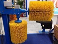 Automatic rotating cow brush