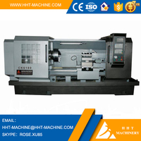CK-6180 High quality low price heavy duty fanuc cnc wheel lathe cutting machine with tailstock