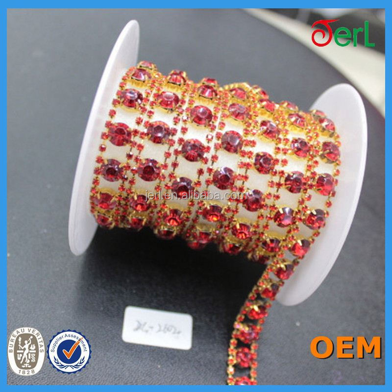 china wholesale elastic rhinestone trim