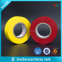 SHUSHI black adhesive pvc electrical insulation tape factory