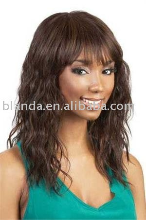 Short Japanese synthetic fiber afro synthetic wigs for black women in high quality