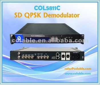 Tv demodulator IRD for Conax Irdeto BISS