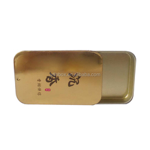 Chinese factory cigarette tin box and metal cigar case pill slide lid small tin box