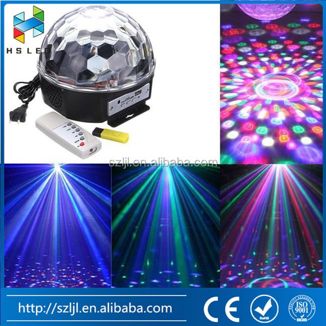 crystal led mirror ball disco light 3w color changing led magic bulb lighting for Party KTV Club