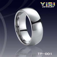 TP-001 white polished tungsten carbide smart jewelry