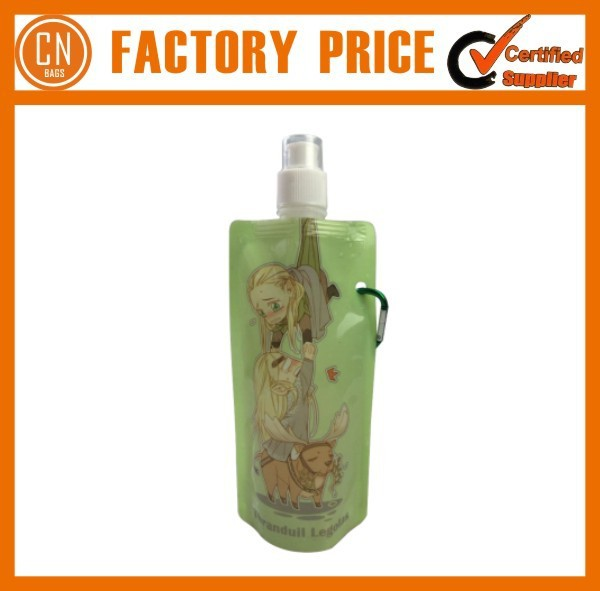 Plastic Promotional Foldable Water Bottle Pouch