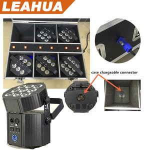 Wireless dmx battery powered led uplights 9*10W LED battery par for wedding
