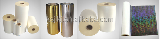 China Bopp Metalized Thermal Lamination Film for packaging