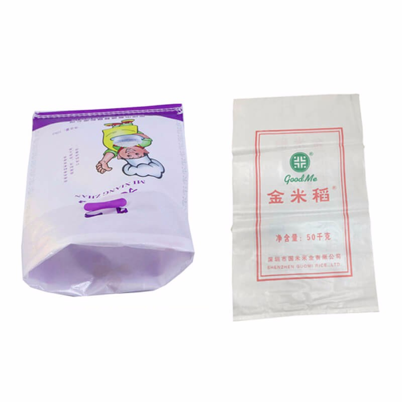 Customized White PP Woven Bags / 25kg PP Sacks for Packing Plastic Pellets / Food / Chemical