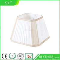 Square shape pleated faux silk table or floor lamp shade