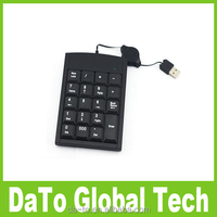 2015 New Black 19 Keys Mini USB Number Keyboard For Laptop Desktop PC