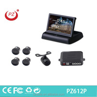 car rear view parking sensor system with folded dash board monitor 4.3inch color lcd and night vision camera
