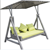 US standard Cast Aluminum Patio Furniture outdoor swing sofa