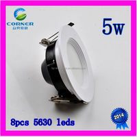 2014 new design high power 5w 400lm smd5630 led ceiling downlight