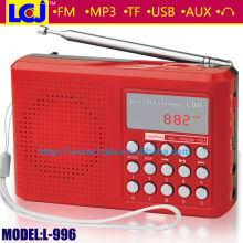 Mini marine speaker with fm radio mp3 player