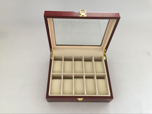 high glossy 10 grids wooden watch box rose wood