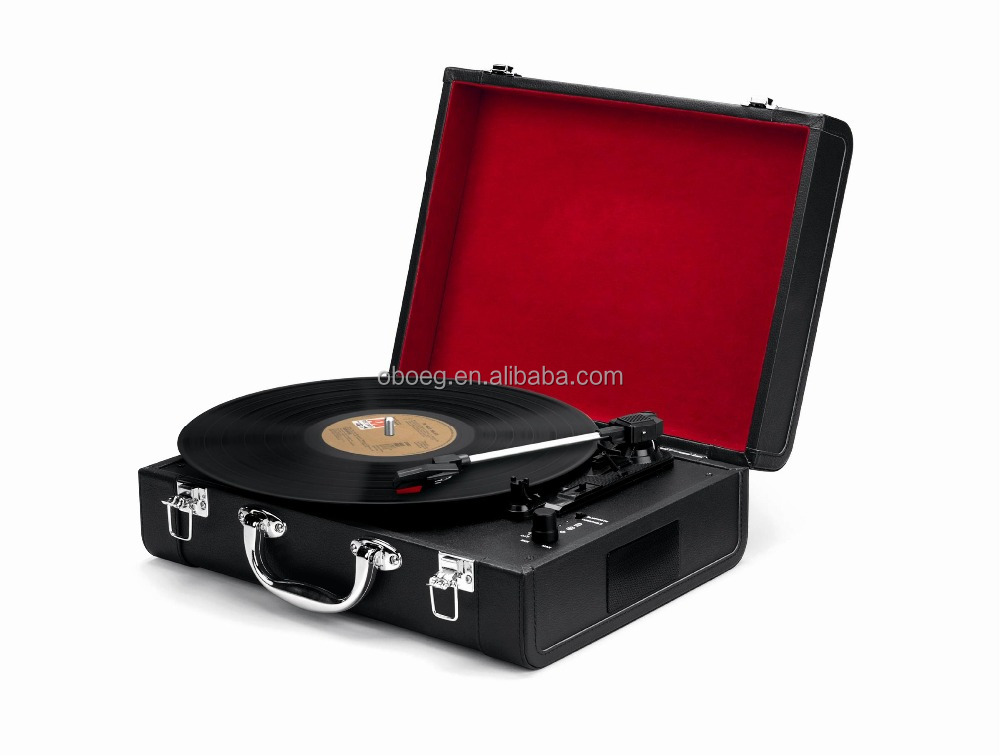 Vintage Retro suitcase Vinyl Turntable Record Player Various Colors Wholesale 2017
