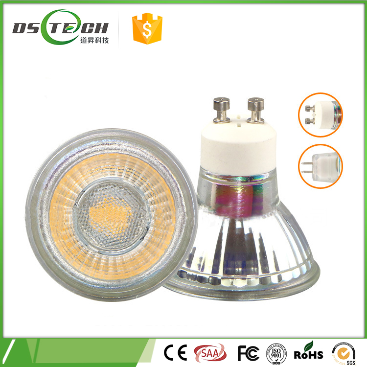 Cheapest 3W 5W 220V 110V 12V COB Spot Light Lamp MR16 GU10 LED Bulb Spotlight