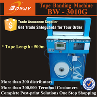 Upright automatic seal and cut OPP & Paper tape envelope wrapping Machines