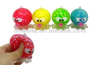 plastic water squishy toy, squeeze frog toy, baby squeeze toy