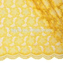 Favourable gold guipure lace fabric / Charming african cupion lace fabric african cord lace For African Dress